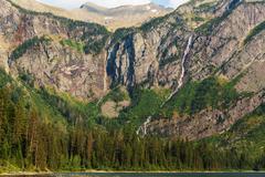 Avalanche lake - stock photo