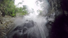 A small waterfall in the tropical jungle. Philippines. Palawan. Stock Footage