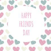Vector illustration greeting on friendship day Stock Illustration