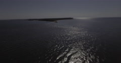 Orient Point Lighthouse far fly forward short Stock Footage