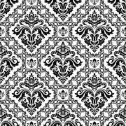 Seamless Oriental Vector Background Stock Illustration