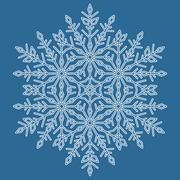 Pretty Vector Round Snowflake Stock Illustration