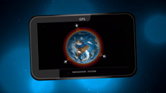 Receiver GPS on background bokeh - stock footage