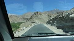 LadakhKhardungla Pass track Stock Footage