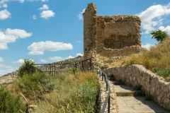 Genoese fortress Cembalo built beginning in 1357 Stock Photos