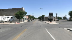 POV-Driving main street small rural Utah town Stock Footage