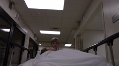 Little Boy Pretending To Be A Doctor In Hospital - stock footage