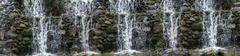Panorama waterfall, cascade - stock photo
