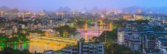 Guilin, Li River and Karst mountains, China. - stock photo
