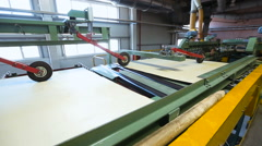 Plywood production on modern equipment Stock Footage