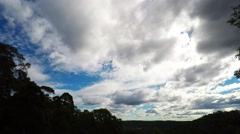 Cloud Formations Spinning Over the Valley  Stock Footage