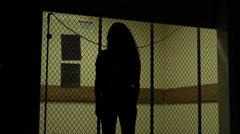 Scary Elevator Door Stock Footage