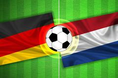 Germany - Netherlands - Soccer field with ball Stock Illustration