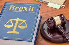 A law book with a gavel - Brexit Stock Photos