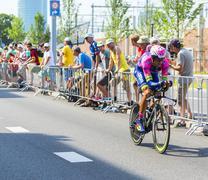 Utrecht,Netherlands - 04 July 2015: The Cyclist Ruben Plaza Molina Stock Photos