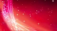 Wedding Motion Loopable Background 043, Red BG falling stars - stock footage