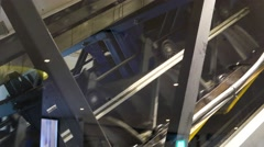 Operation of escalator Stock Footage