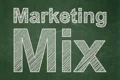 Marketing concept: Marketing Mix on chalkboard background - stock illustration