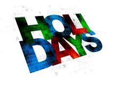 Entertainment, concept: Holidays on Digital background Stock Illustration