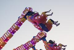 Hanging funfair attraction Stock Photos