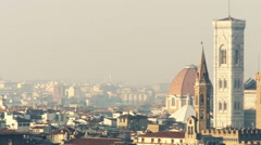 Italy Florence cathedral panoramic right Stock Footage