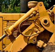 Detail of tractor hydraulic Stock Photos