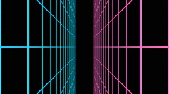 Animated Neon Grid Vertical Stock Footage