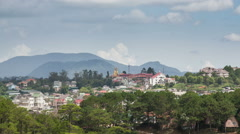 Cloudy day in Dalat, Vietnam Stock Footage
