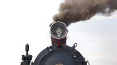 Close up of historic retro steam train Stock Footage