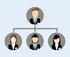 Organization chart icon. Business design. Vector graphic Stock Illustration