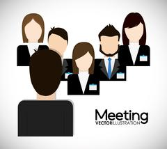 Businesspeople icon. Business design. Vector graphic - stock illustration
