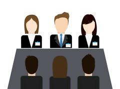 Businesspeople icon. Business design. Vector graphic Stock Illustration