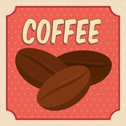 Coffee bean icon. Coffee time design. Vector graphic - stock illustration