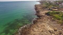 Beautiful town nead ocean rocky beach Lagos, Praia da Luz, Algarve, Portugal Stock Footage