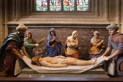 The burial of Christ Stock Photos