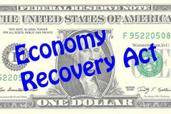 Economy Recovery Act business concept Stock Illustration