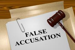 False Accusation legal concept Stock Illustration