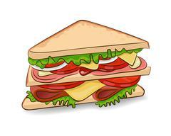 Vector classic sandwich Stock Illustration
