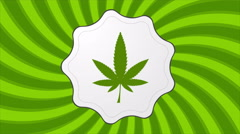 Retro cannabis icon video animation - stock footage