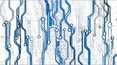 Abstract Technology Circuit Background - Loop Blue Stock Footage