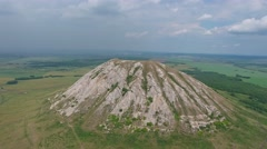 Flying over Shikhan mountain, Russia, South Ural Stock Footage