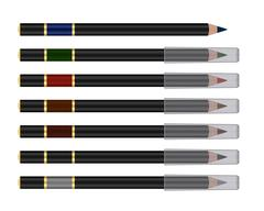 Vector set of cosmetic pencil Stock Illustration