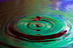 Water Drops and Ripples - stock photo