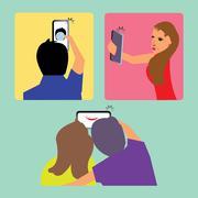 Selfie clipart Stock Illustration