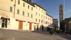 Montalcino, Tuscany town of wine - stock footage