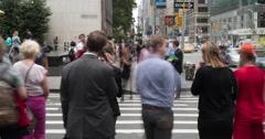 Crowd of people walking crossing street in New York City timelapse Stock Footage
