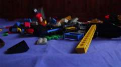 Lego Dropping - stock footage