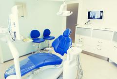 Interior of new modern dental clinic office Stock Photos