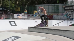 Cesar Afonso during the DC Skate Challenge Stock Footage