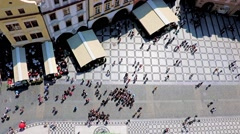 Old Town Square from above, Prague, Czech Republic Stock Footage